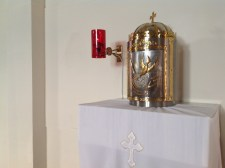 The tabernacle and it's little light