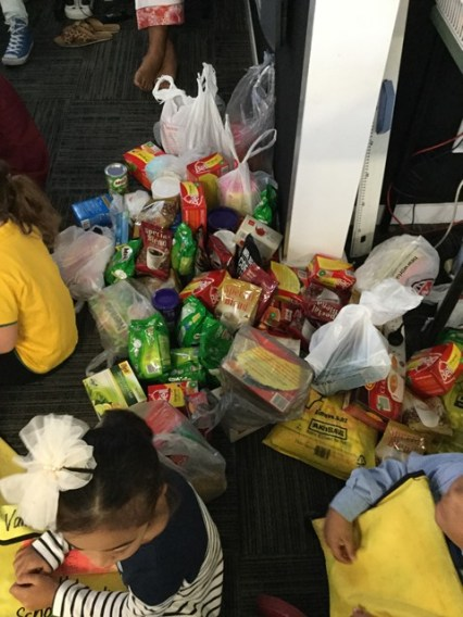 The food donations