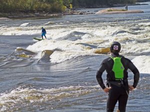 River Surfing Sturgeon Falls
