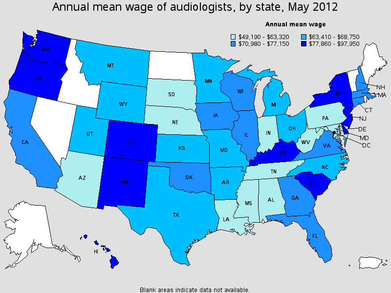 Audiologist Salary State By State