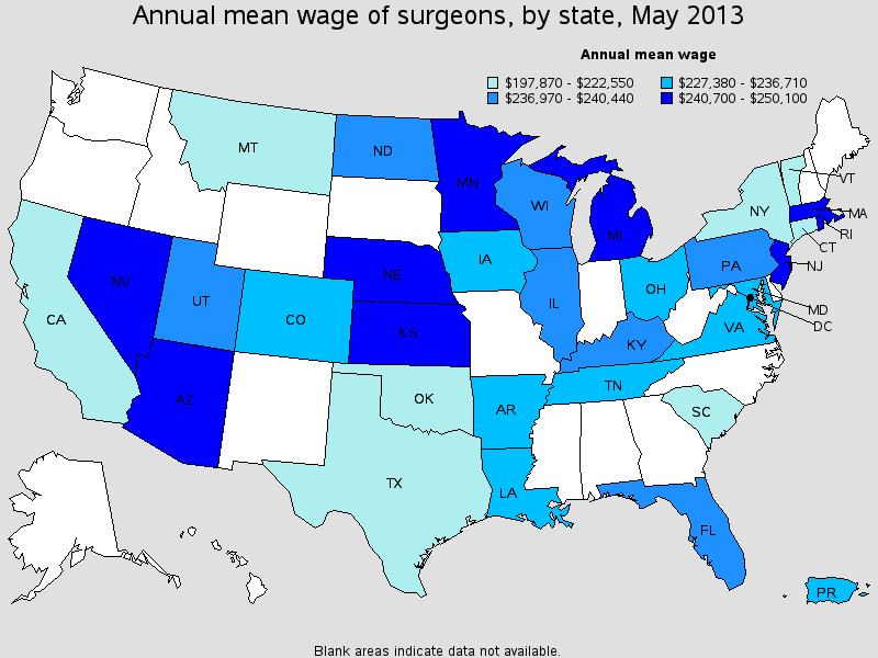 heart surgeon salary state by state