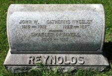 Family headstone of J. W. Reynolds