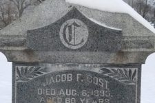 Jacob F. Cost Inscription