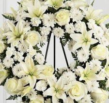 Floral funeral arrangement