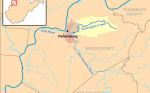 Map location of Worthington creek
