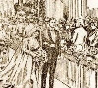 Stock sketch of Bride and Groom image