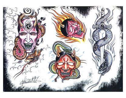 3d Tattoo Flash