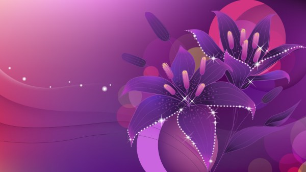 Abstract Flower Wallpaper Background