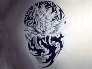 phoenix tribal tattoo wallpaper deded