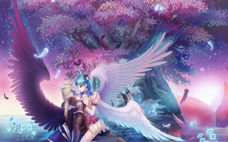 anime angels wallpaper
