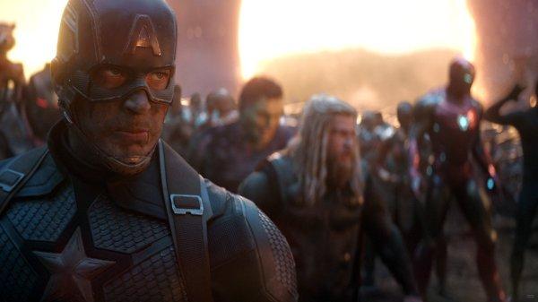 Captain America on Fire