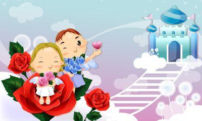 wallpaper cartoon love