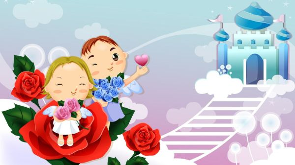 wallpaper cartoon love