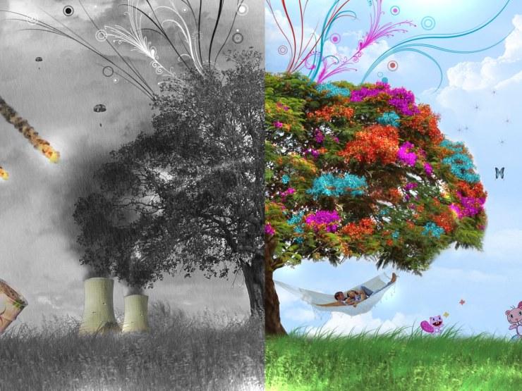 Abstract Tree Wallpaper