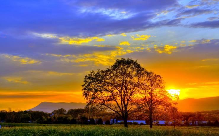 HD Summer sunset wallpaper smartphone desktop 1920p