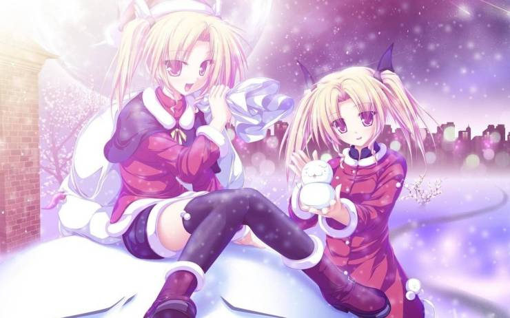 HD Winter anime wallpaper android, Pc Desktop 1680p