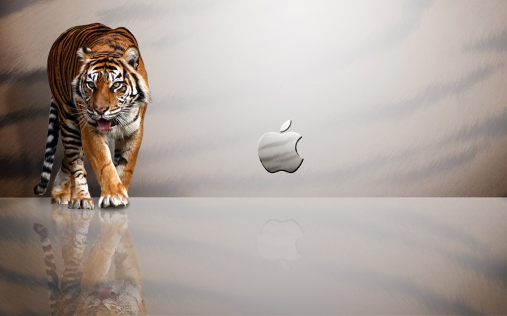 mac tiger wallpaper
