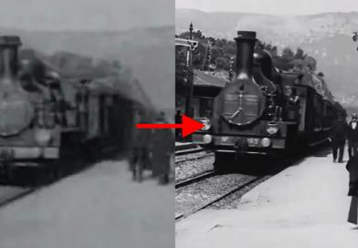 «L'arrivée d'un train en gare de La Ciotat» de los Hermanos Lumière de 1895 restaurada en 4K gracias a Redes Neurales