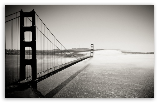 Golden Gate Bridge Black And White Ultra Hd Desktop Background Wallpaper For 4k Uhd Tv Widescreen Ultrawide Desktop Laptop Multi Display Dual Monitor Tablet Smartphone