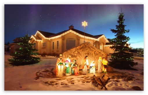 Outdoor Christmas Nativity Scene HD wallpaper for Standard 4:3 5:4 Fullscreen UXGA XGA SVGA QSXGA SXGA ; Wide 16:10 5:3 Widescreen WHXGA WQXGA WUXGA WXGA WGA ; HD 16:9 High Definition WQHD QWXGA 1080p 900p 720p QHD nHD ; Other 3:2 DVGA HVGA HQVGA devices ( Apple PowerBook G4 iPhone 4 3G 3GS iPod Touch ) ; Mobile VGA WVGA iPhone iPad PSP Phone - VGA QVGA Smartphone ( PocketPC GPS iPod Zune BlackBerry HTC Samsung LG Nokia Eten Asus ) WVGA WQVGA Smartphone ( HTC Samsung Sony Ericsson LG Vertu MIO ) HVGA Smartphone ( Apple iPhone iPod BlackBerry HTC Samsung Nokia ) Sony PSP Zune HD Zen ; Tablet 2 Android ;