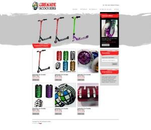 scooters website, ecommerce website, ecom website