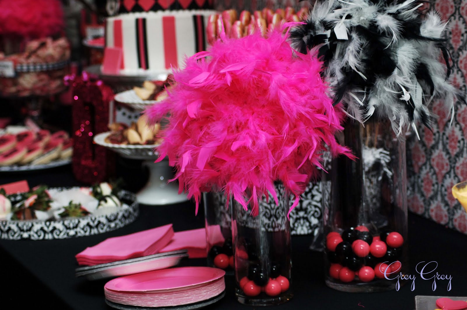 Pink And Black Party Decorations 21 Cool Hd Wallpaper
