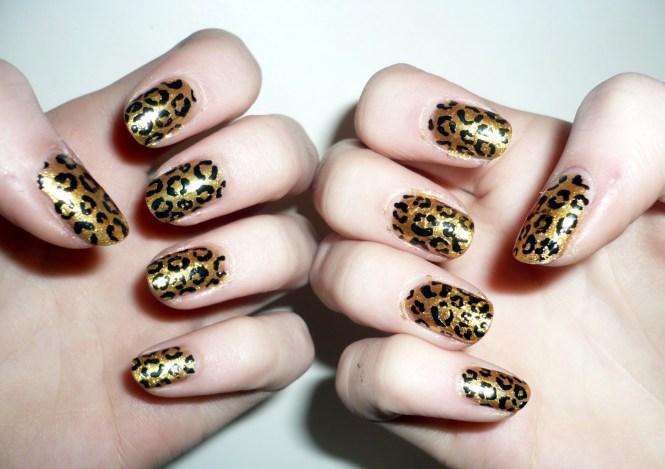 Gold And Black Nail Art