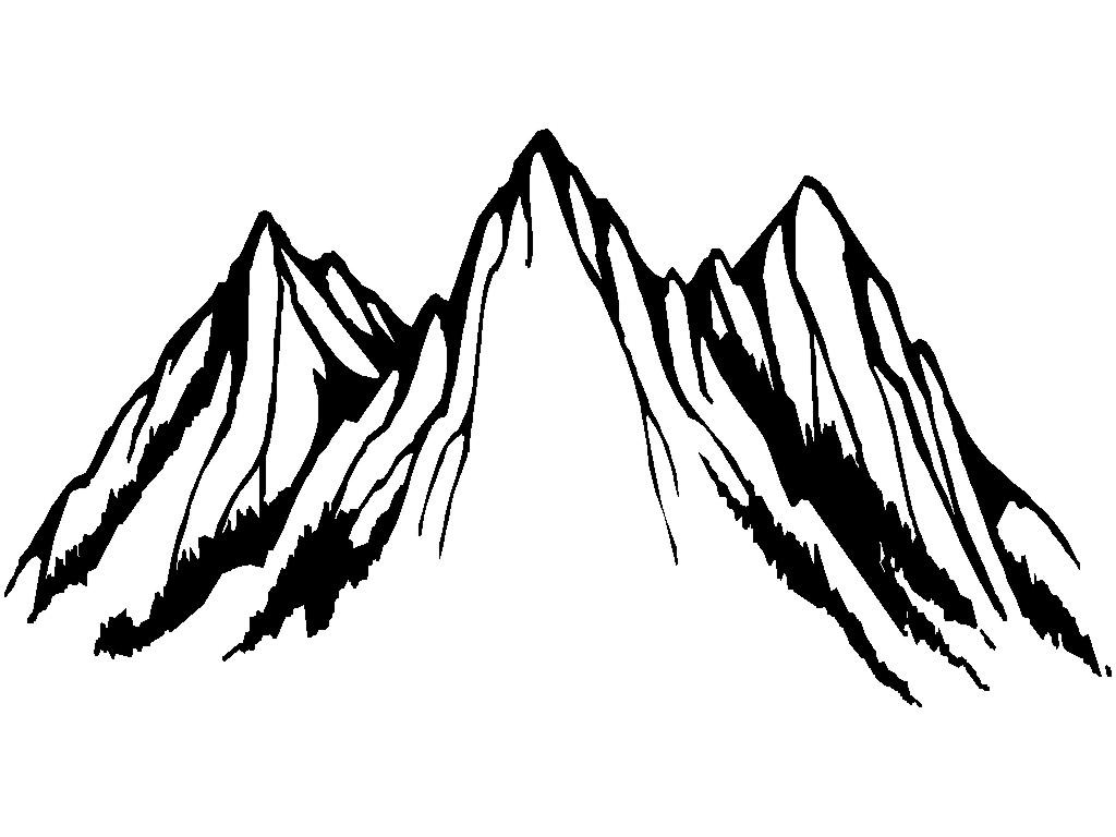 Mountain Clipart Black And White Amp Mountain Black And