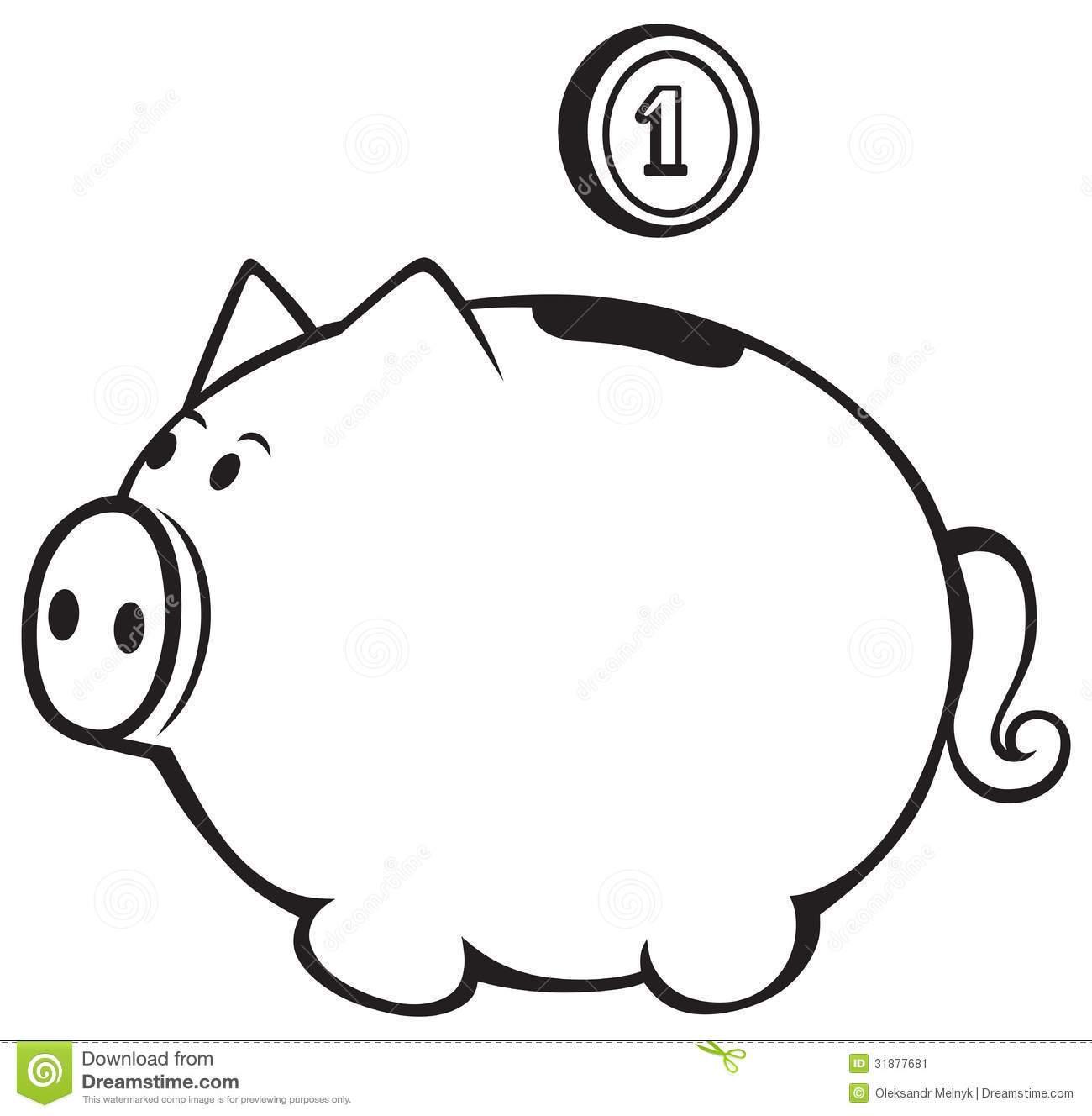 14 Piggy Bank Clipart