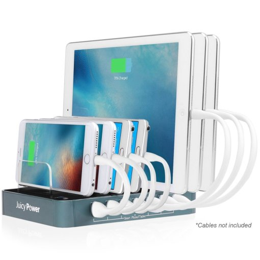 Juicy Power 7-Port Desktop USB Charging Station CABLES NOT INCLUDED (AVLT-CH08)