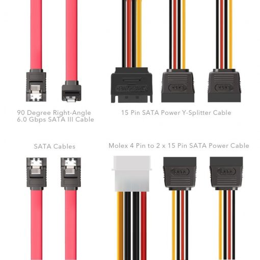 SATA data cable +SATA power cable molex 15 pin