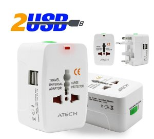 ATECH all in One Universal Travel Adapter