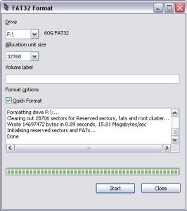Fat32 Formatting tool