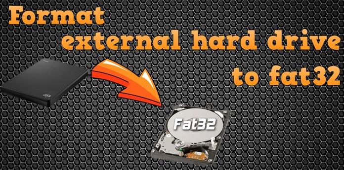 format external hard drive to fat32