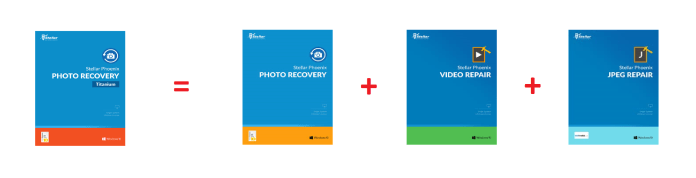 Stellar Phoenix Photo Recovery Titanium, JPEG Repair, Video Repair software package