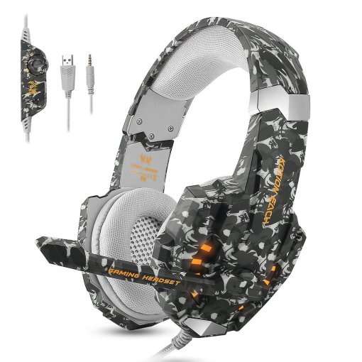 ECOOPRO Gaming Headset for PS4 3.5mm Stereo Noise Isolation Over Ear Headphones