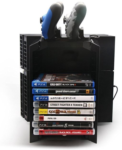 PS4 Multifunctional Game Disk Storage Tower Holder