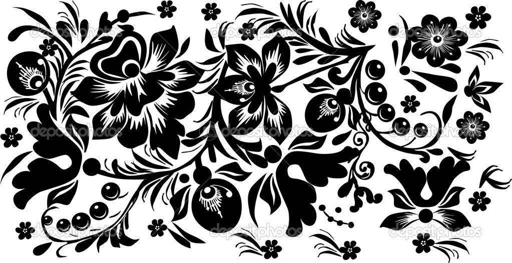 Black Flowers Design 14 Cool Wallpaper