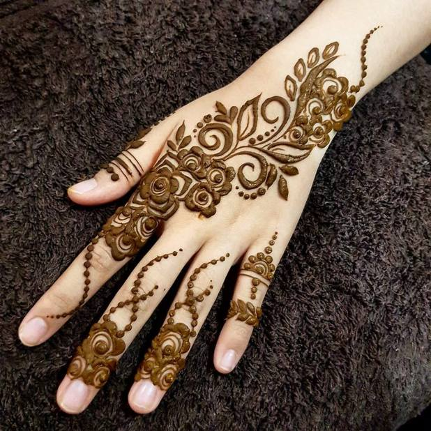 Easy Mehndi Design Step By Hd Wallpaper