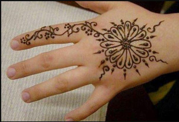 Easy Henna Hand Designs
