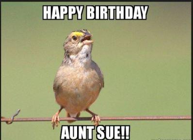 happy birthday aunt funny meme