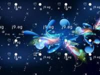 palm tree vector tropical scene illustration