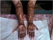 front hand full arm easy and simple mehndi design