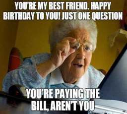 grand mom wishing birthday meme