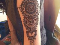 beautiful floral shoulder arm mehndi design