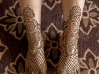 easy Legs Mehndi Design Ides for Eid