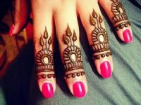 leaves fingers mehndi designs