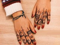 step by step finger mehndi design