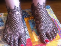 Complete Bridal Feet Mehndi Design