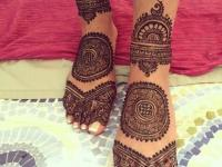 cute arabic floral henna designs